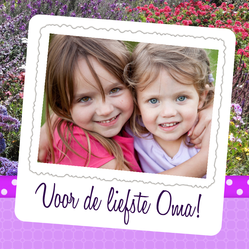Moederdag kaarten - Bloemenkaart Liefste Oma - BK
