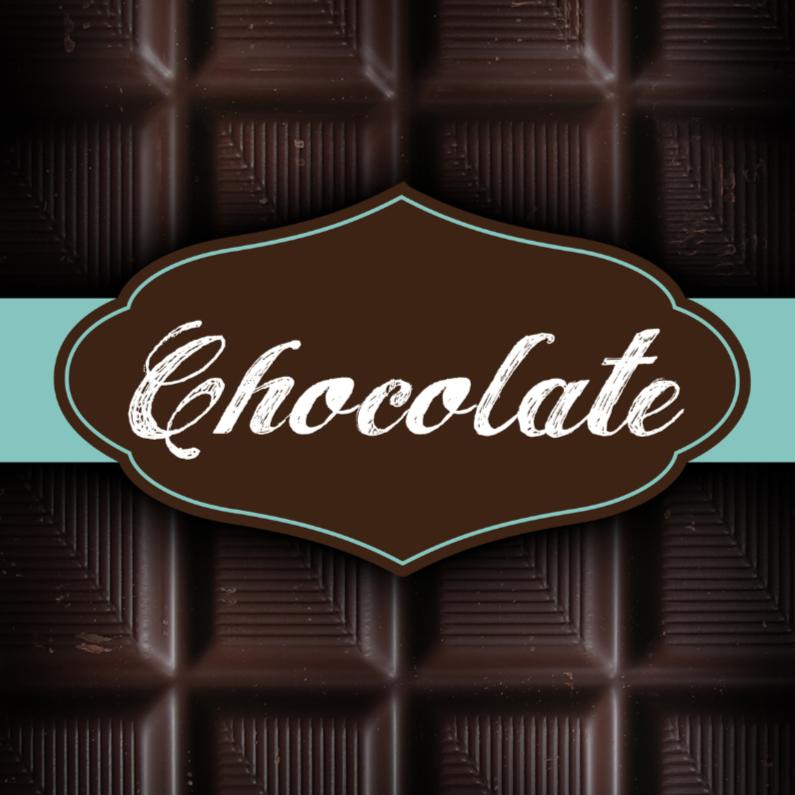 Moederdag kaarten - chocolade kaart reep