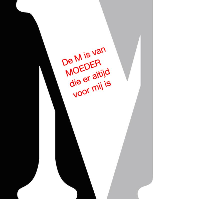 Moederdag kaarten - De M van Moeder ELD
