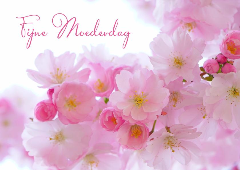 Moederdag kaarten - Fijne moederdag met bloemen foto