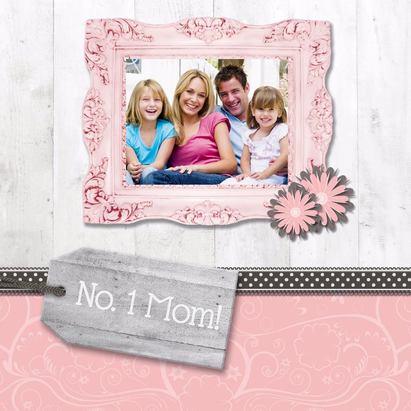 Moederdag kaarten - Hout met Label No. 1 Mom! - BK