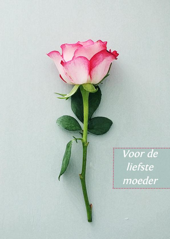 Moederdag kaarten - Kaart roos
