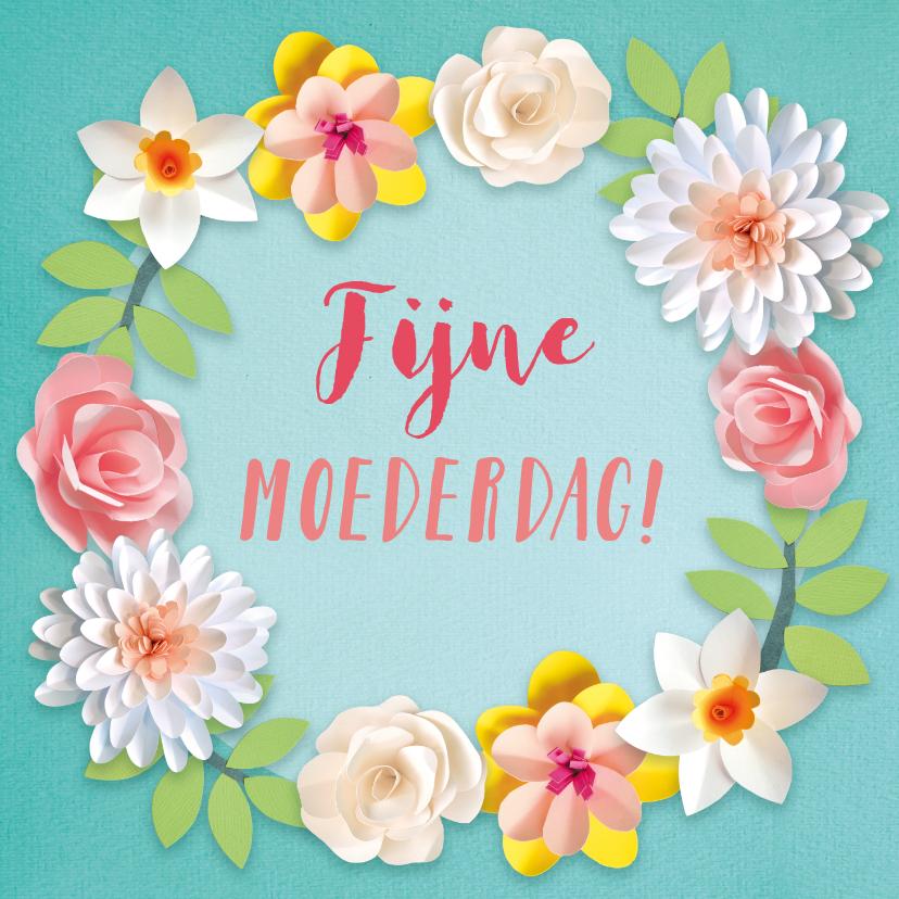 Moederdag kaarten - Lentebloemen moederdagkaart