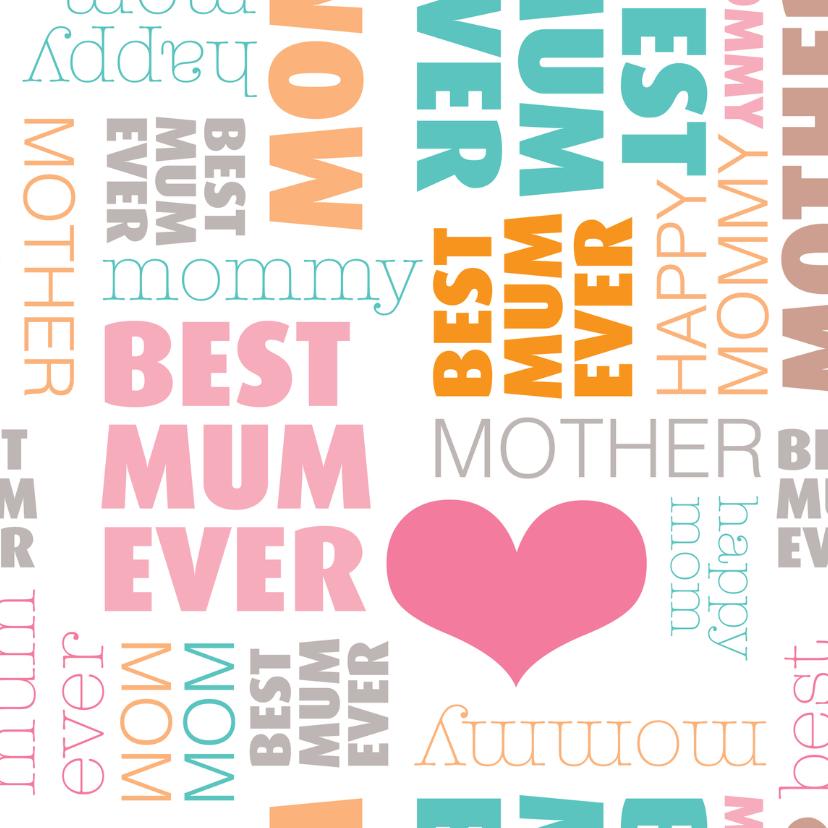 Moederdag kaarten - Liefste moeder tekst in engels