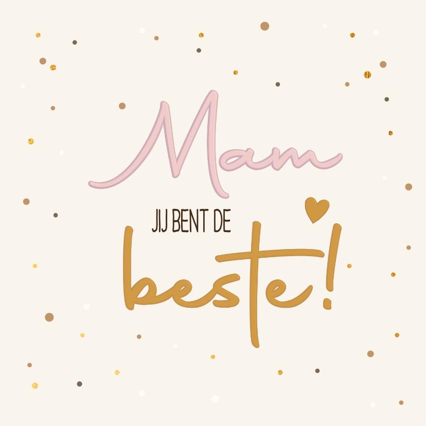 Moederdag kaarten - Mam de beste - pure touch - moederdagkaart