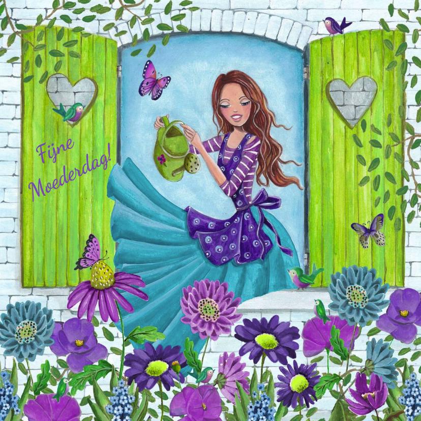 Moederdag kaarten - Moederdag Bloemen voor Mama