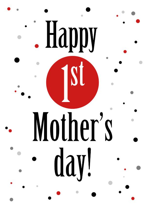 Moederdag kaarten - Moederdag first mothersday - ST