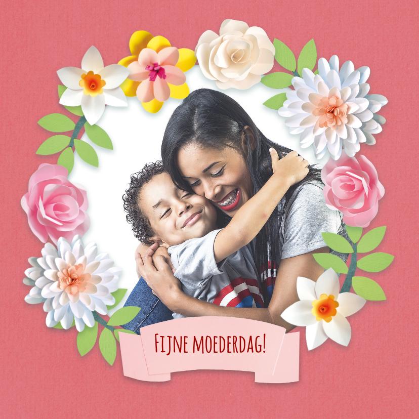 Moederdag kaarten - Moederdag fotokaart met bloemen