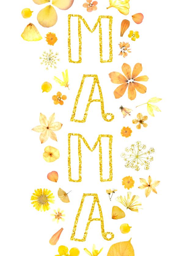Moederdag kaarten - Moederdag gouden bloemen