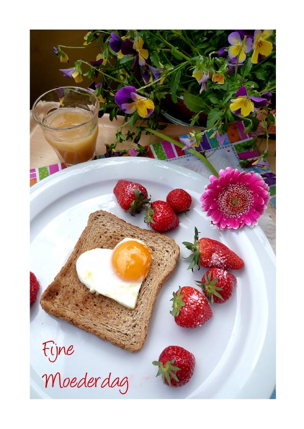 Moederdag kaarten - Moederdag Hartverwarmend ontbijt