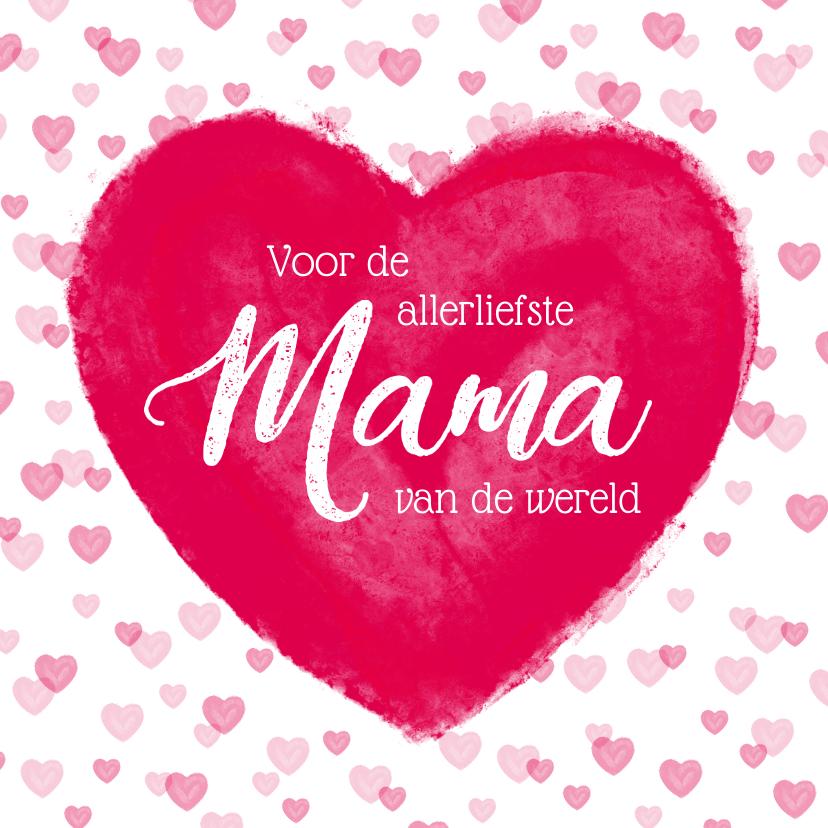 Moederdag kaarten - Moederdag kaart groot hart allerliefste mama