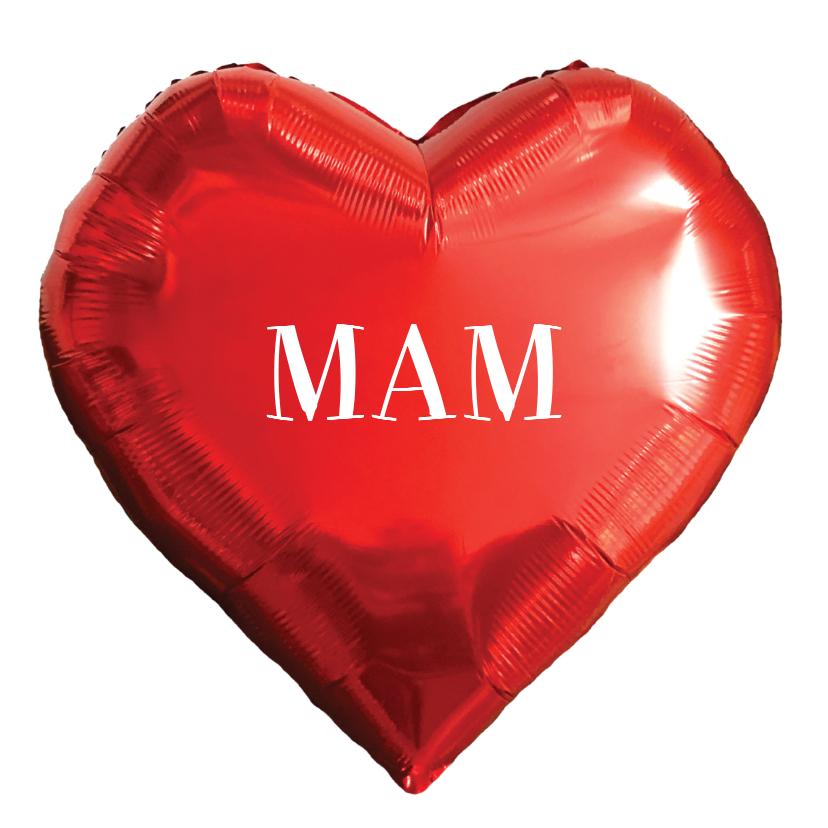 Moederdag kaarten - Moederdag kaart illustratie folie hart rood