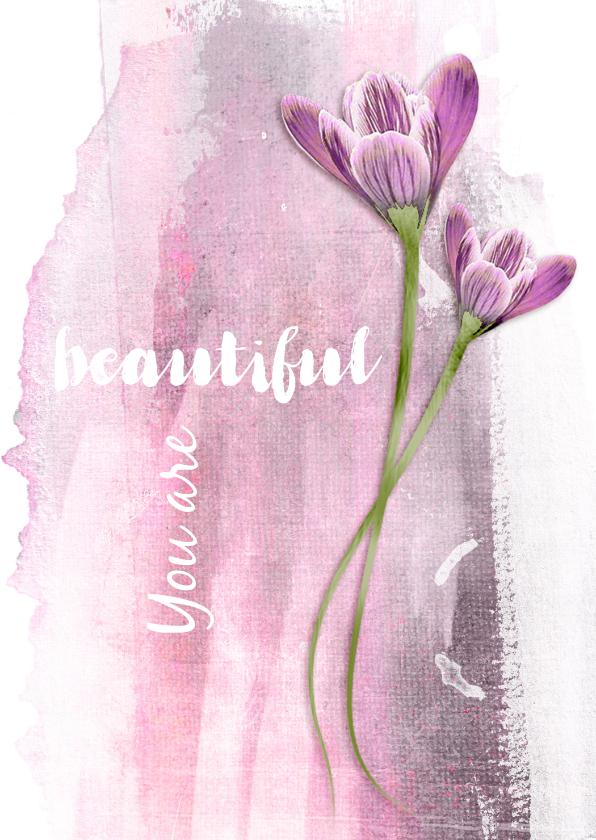 Moederdag kaarten - Moederdag kaart you are beautiful