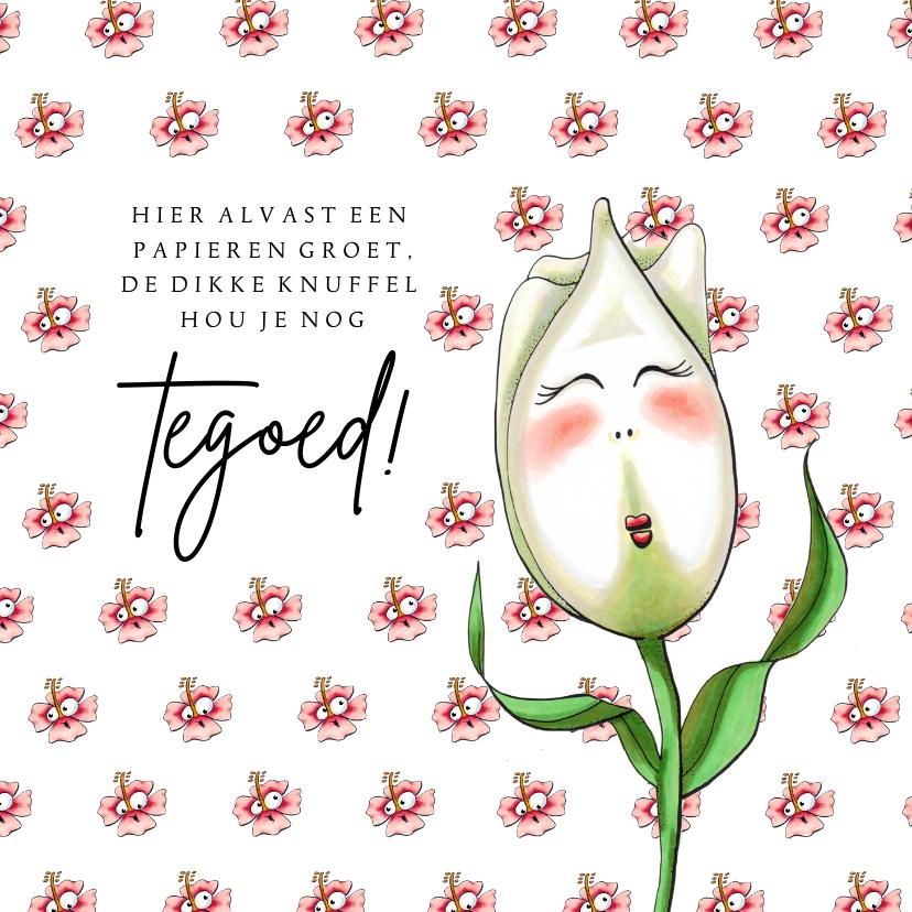 Moederdag kaarten - Moederdag kaarten tulp met knuffel tegoed
