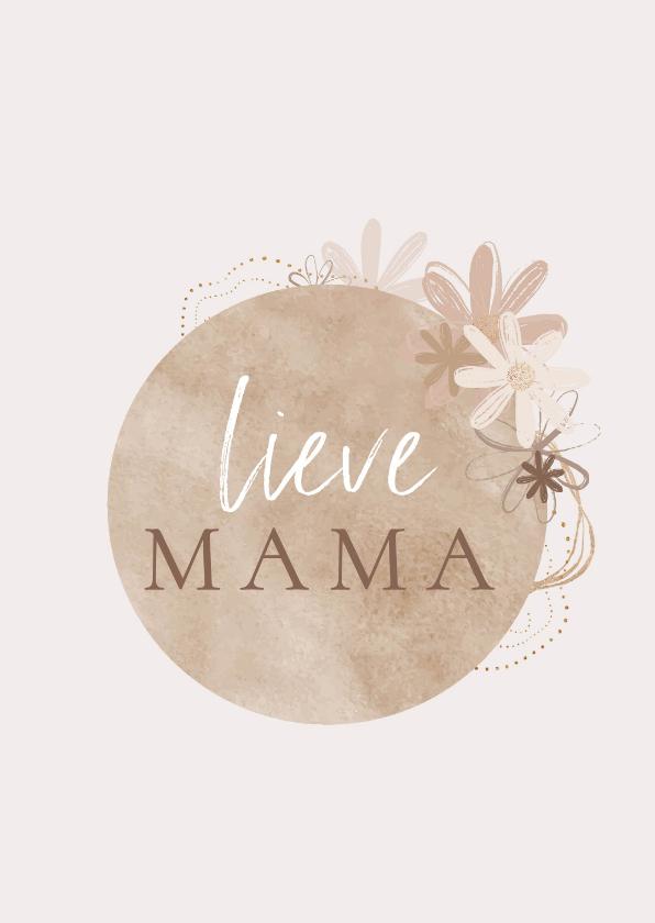 Moederdag kaarten - Moederdag Lieve mama bloemetjes