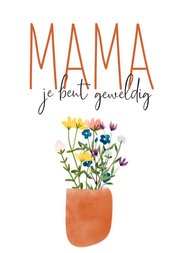 Moederdag kaarten - Moederdag | Mama je bent geweldig