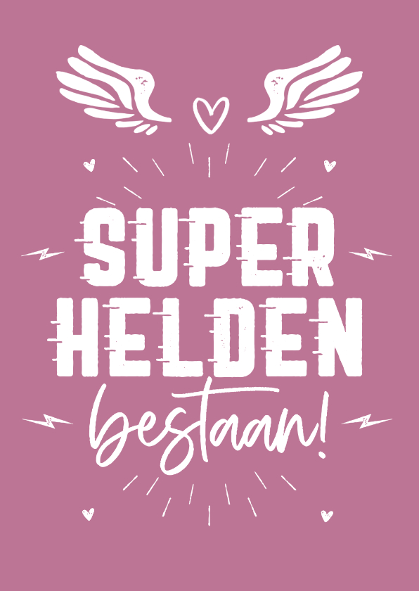 Moederdag kaarten - Moederdag superheld supermama stoer hartjes foto