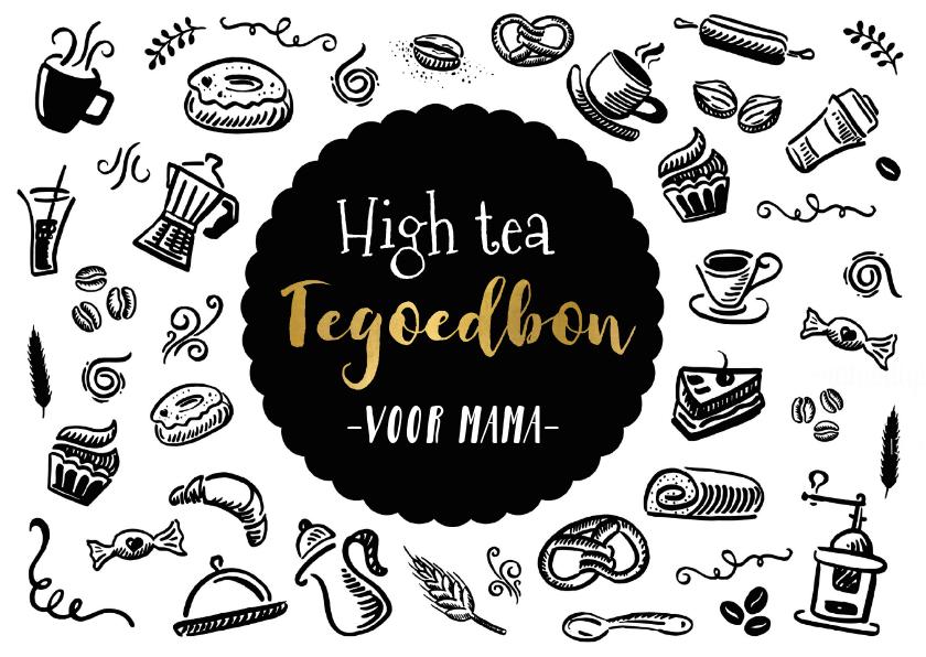Betere Moederdag tegoedbon voor een high tea zwart wit   Kaartje2go BX-25