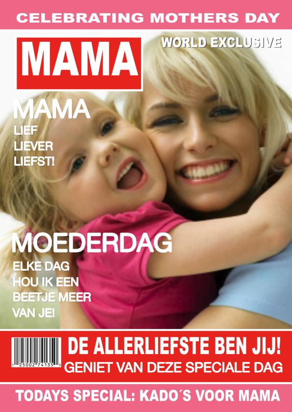 Moederdag kaarten - Moederdag Tijdschrift liefste Mama