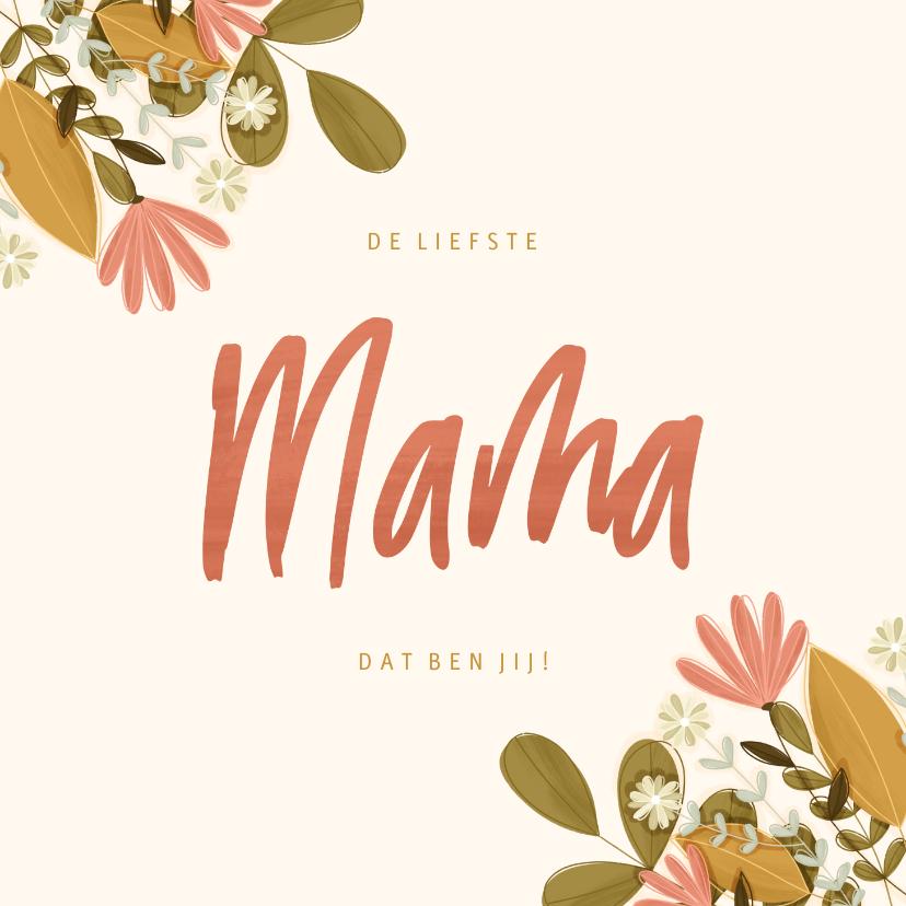 Moederdag kaarten - Moederdag vierkant mama met bloemen