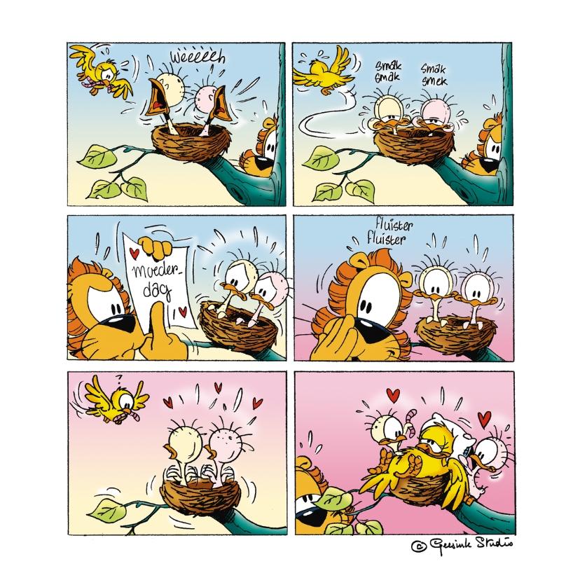 Moederdag kaarten - Moederdag vogelnest - A