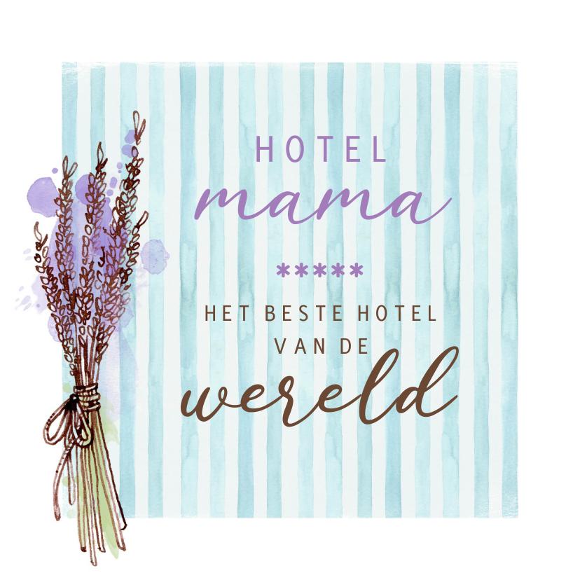 Moederdag kaarten - Moederdag waterverf hotel mama
