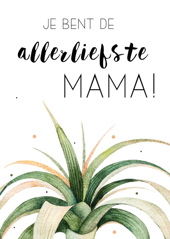 Moederdag kaarten - Moederdagkaart: Allerliefste mama!