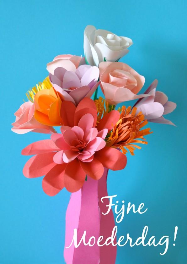 Moederdag kaarten - Moederdagkaart bloemen op vaas
