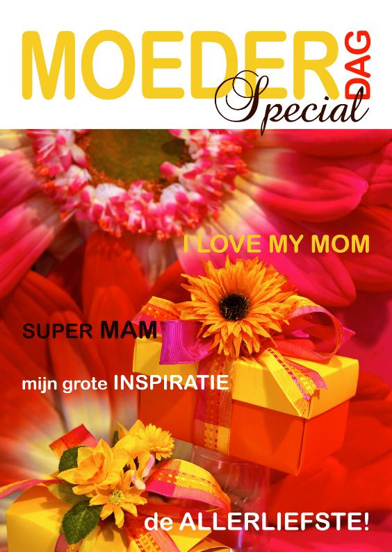 Moederdag kaarten - Moederdagkaart Cover magazine 2