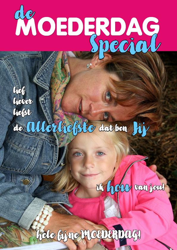 Moederdag kaarten - Moederdagkaart Cover magazine 4 - OT