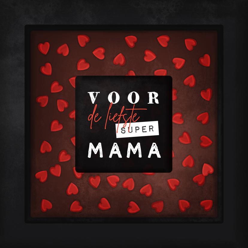 Moederdag kaarten - Moederdagkaart voor de liefste super mama