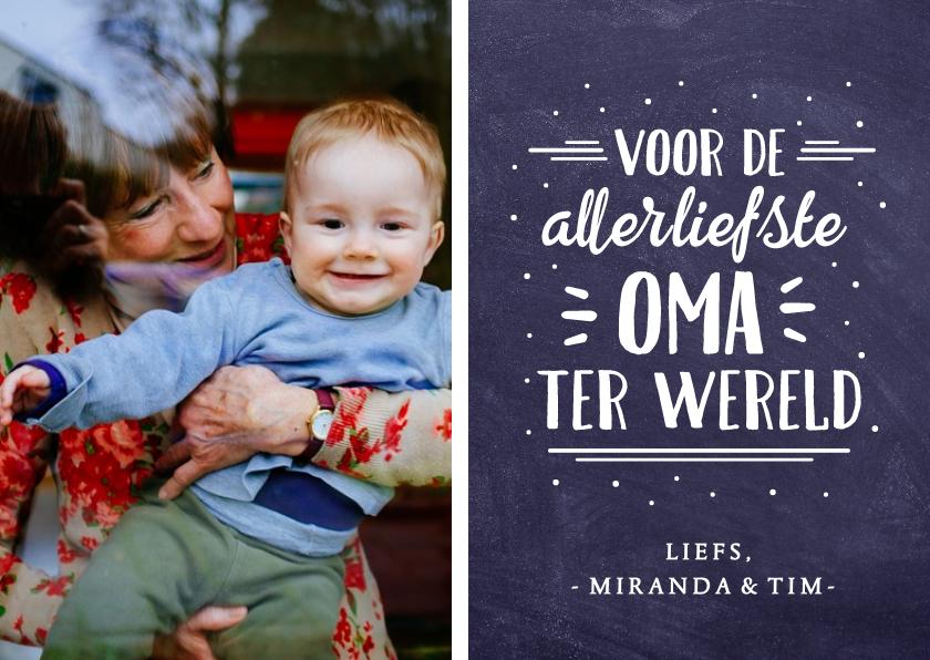 Moederdag kaarten - Moederdagkaart voor oma met eigen foto, namen en tekst