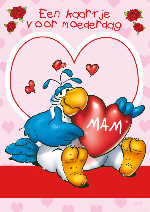 Moederdag kaarten - Moedredag Rocco 4 hart - RN