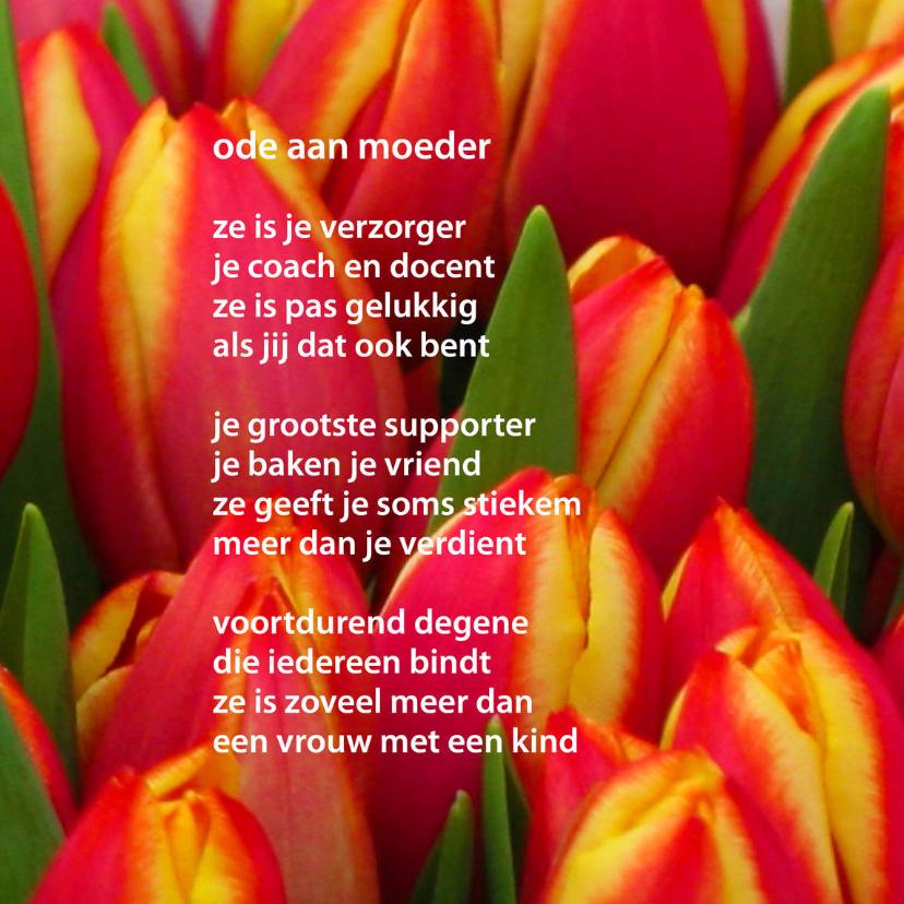Moederdag kaarten - Ode aan moeder - gedichtenbeeld