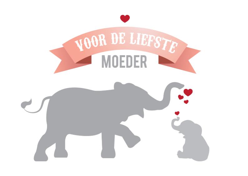 Moederdag kaarten - Olifanten moederkaart