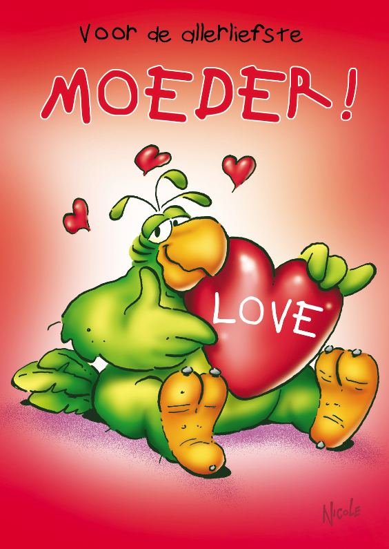 Moederdag kaarten - rocco moederdag 1 met hart