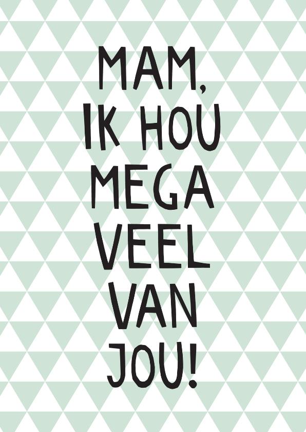 Moederdag kaarten - Trendy moederdagkaart patroon