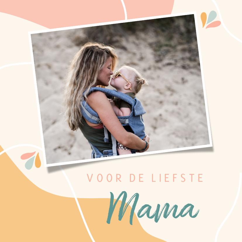 Moederdag kaarten - Vrolijke moederdagkaart 'voor de liefste mama'