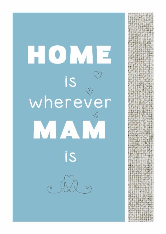 Moederdag kaarten - Wherever Mam is