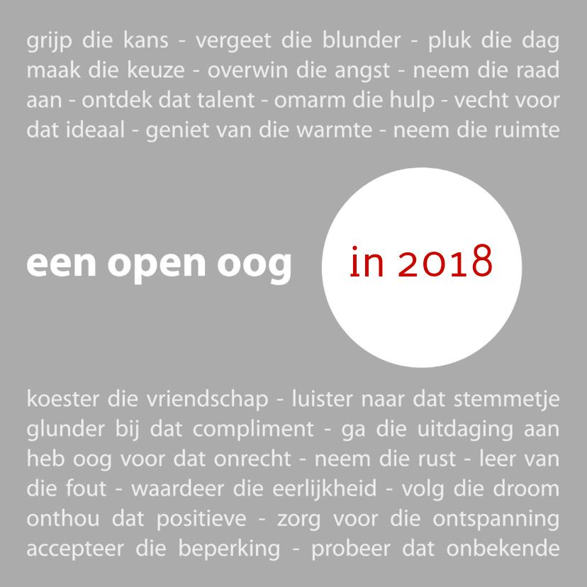 Nieuwjaarskaarten - 2018 open oog