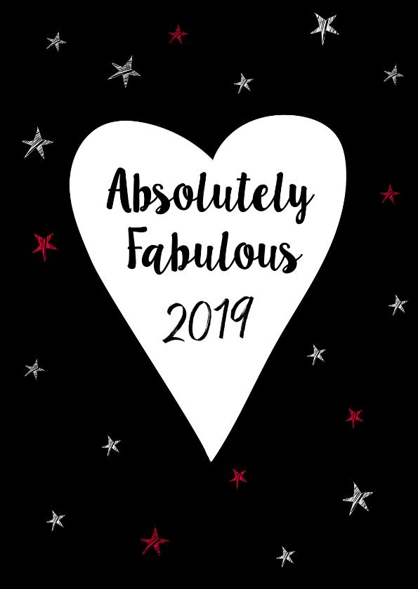 Nieuwjaarskaarten - Absolutely Fabulous 2019 stars
