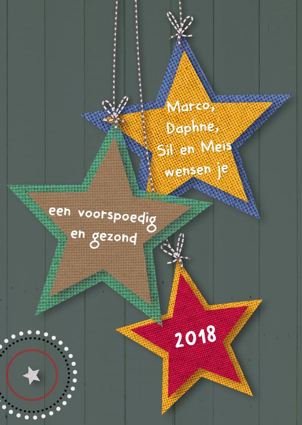 Nieuwjaarskaarten - Eigen txt op sterren