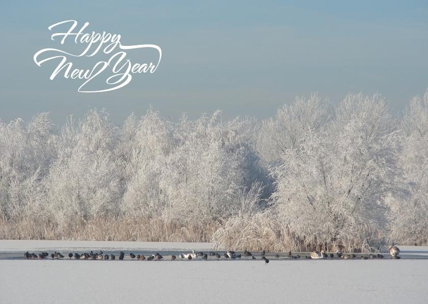 Nieuwjaarskaarten - fotokaart sneeuwlandschap