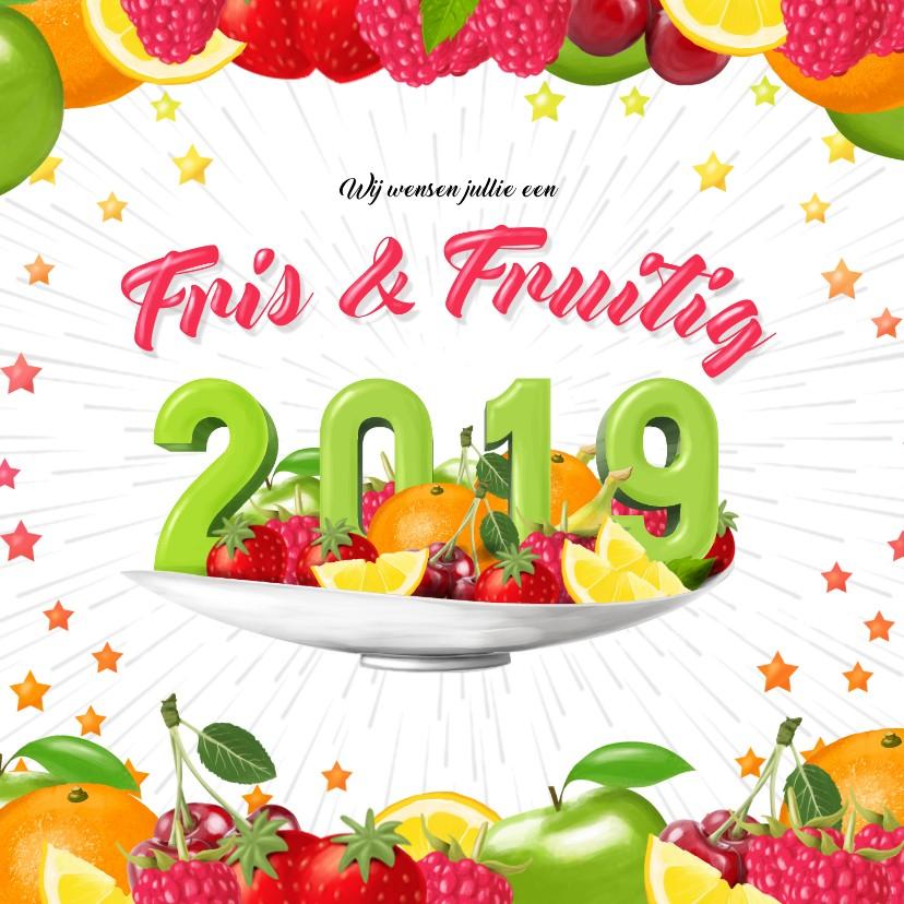 Nieuwjaarskaarten - Fris en fruitig 2019 nieuwjaarskaart