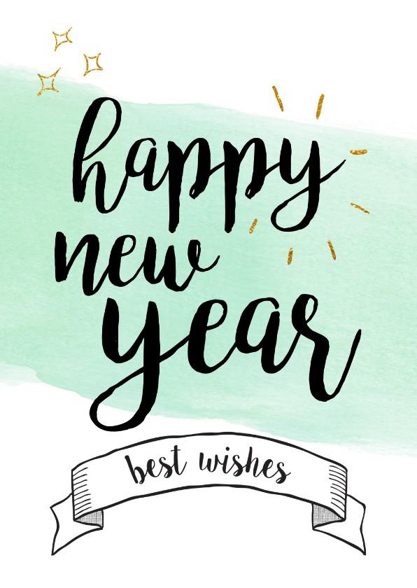 Nieuwjaarskaarten - Happy new year / best wishes