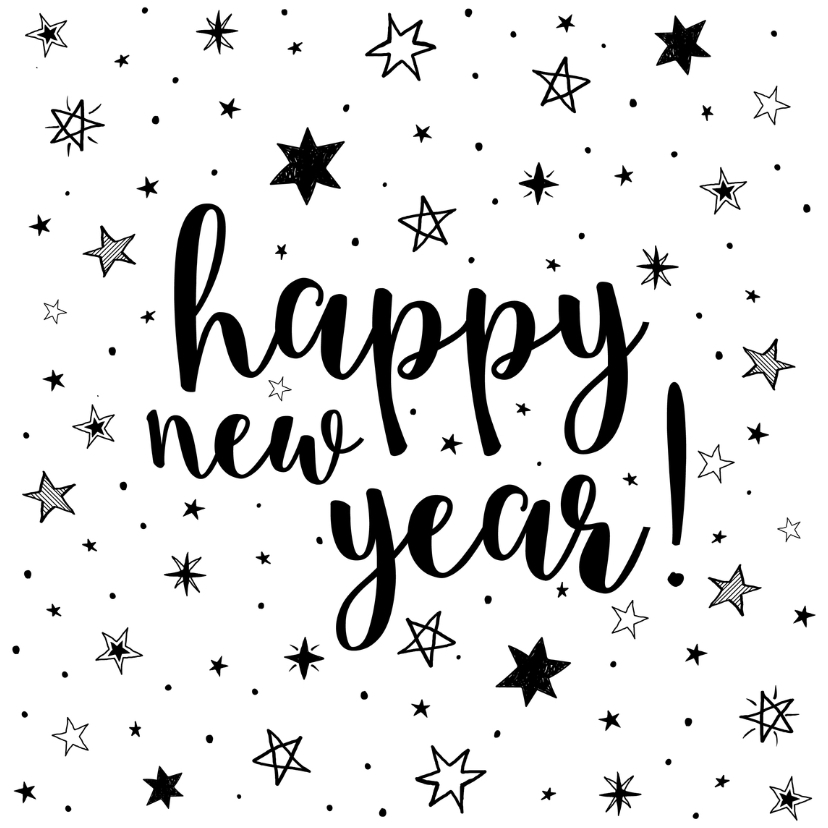 Nieuwjaarskaarten - Happy New Year - Sterren
