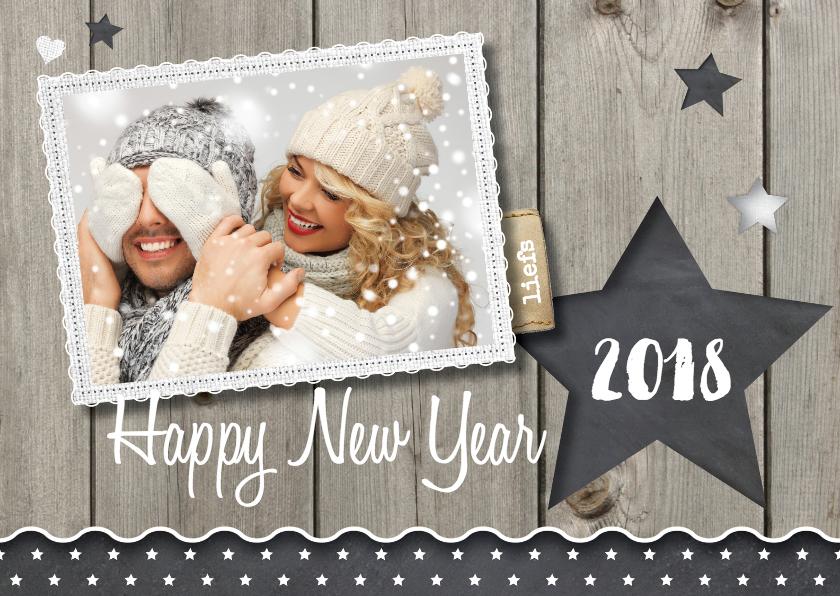 Nieuwjaarskaarten - Hippe foto nieuwjaarskaart LO