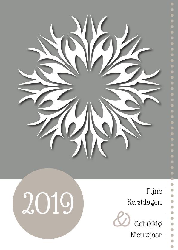 Nieuwjaarskaarten - Kerstkaart - nieuwjaarskaart taupe 2019