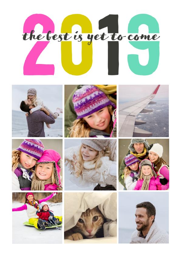 Nieuwjaarskaarten - Kerstkaart 2019 9 foto's