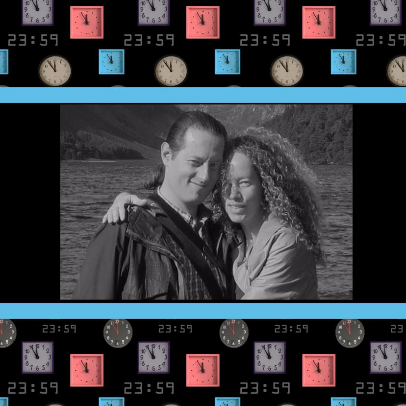 Nieuwjaarskaarten - Klokkenkaart eigen foto